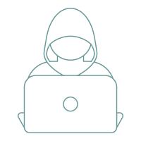 Cyber crime hacker icon